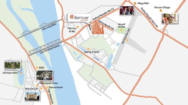 Vị trí chung cư Premier Berriver Long Biên