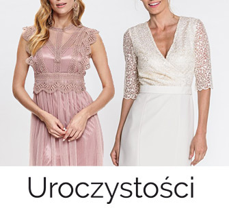 Sukienki i kombinezony na wesele, uroczystości