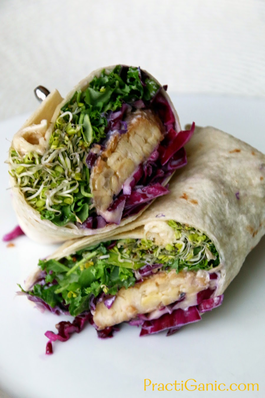 Pineapple Wasabi Tempeh Wraps