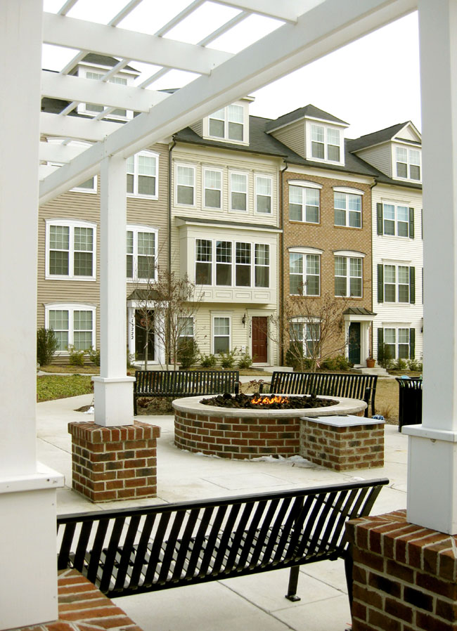 Fire pit and gazebo areas in Clarksburg MD
