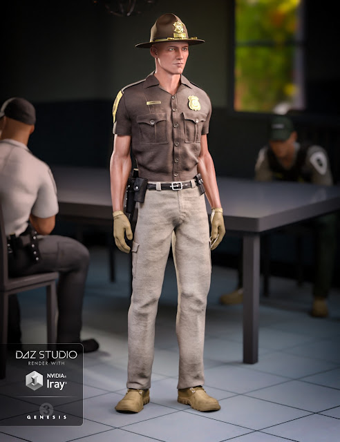 Law Enforcement Outfits Textures for Genesis 2 and 3 Male