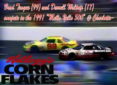 Brad Teague #99 Kellogg's Corn Flakes Chevrolet Racing Champions 1/64 NASCAR diecast blog 1991 Winston Cup Charlotte Ralph Ball