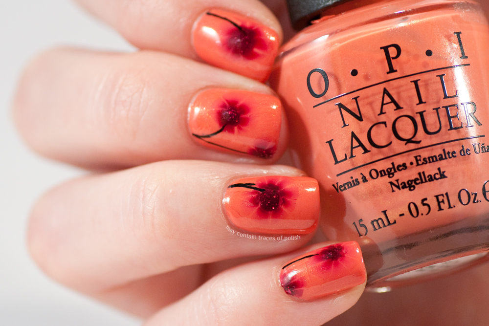 40 great nail art ideas three shades of orangered may contain last weekend i was enjoying some good nail art mojo where i really wanted to create multiple designs prinsesfo Images