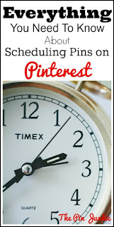 schuduling pins on pinterest