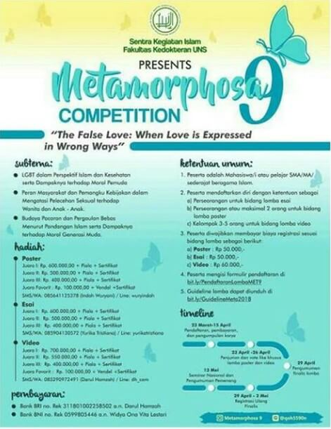 Event Metamorphosa Competition Tingkat Nasional 2018 UNS