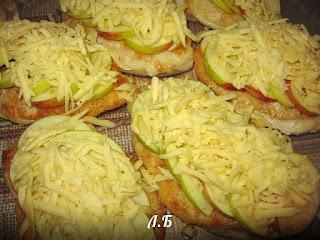 сыр с яблоками и курицей