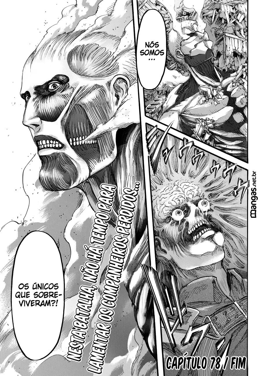 Mangá Shingeki No Kyojin 78