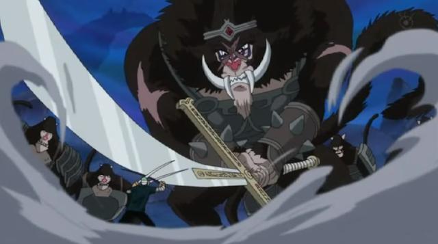 cảnh zoro chiến đấu với khỉ đầu chó