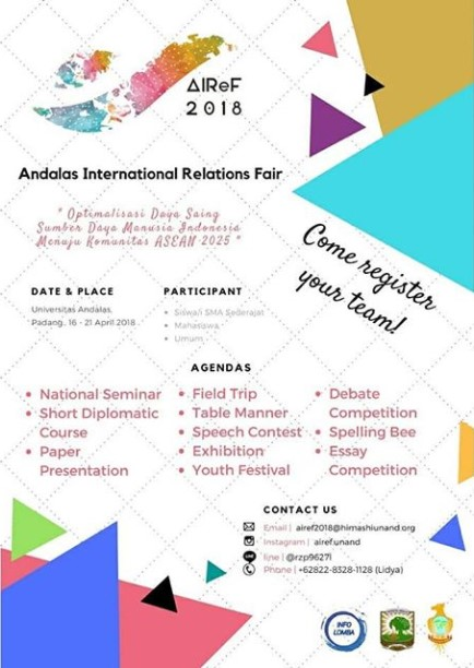 Event Andalas International Relations Fair 2018 Univ. Andalas