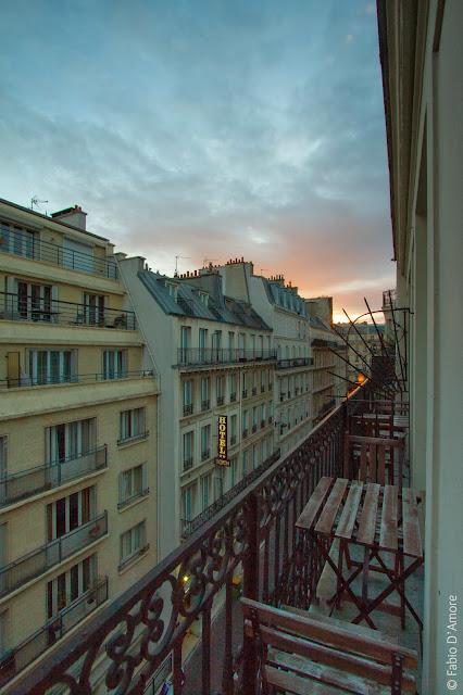 Alba dall'hotel-Parigi