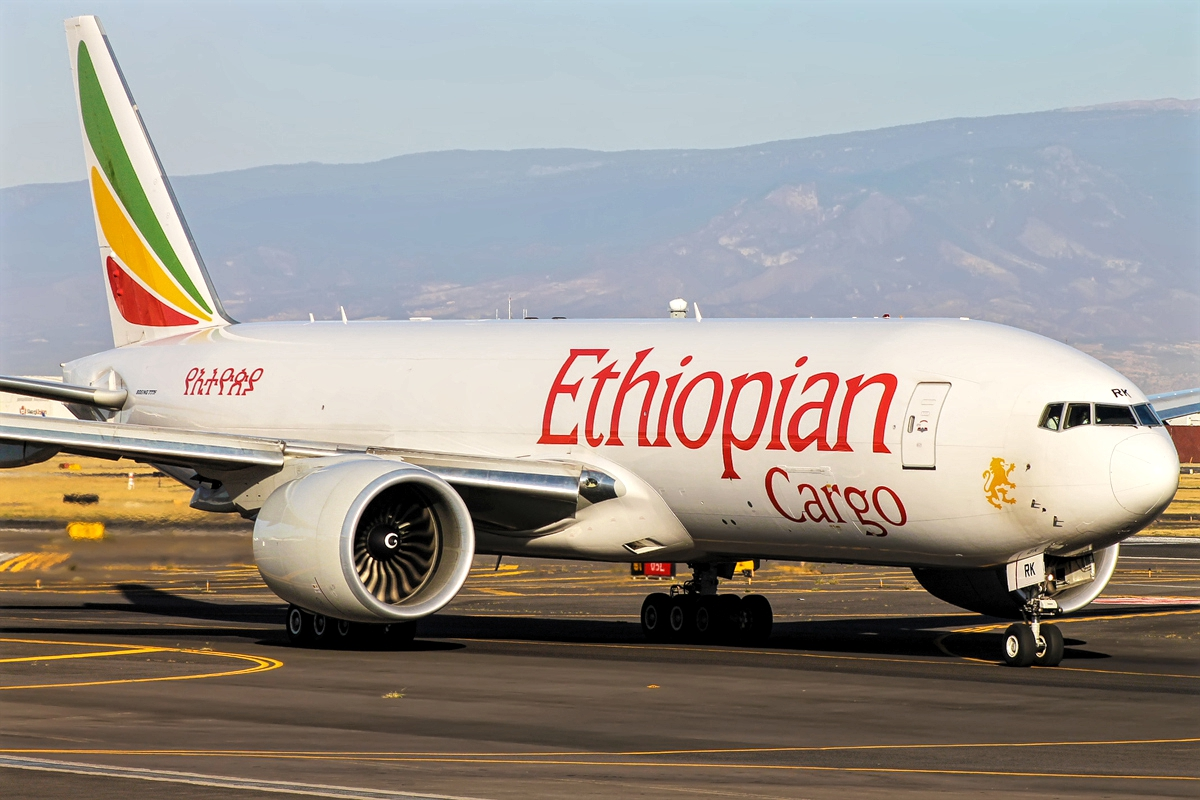 boeing 777f freighter ethiopian cargo