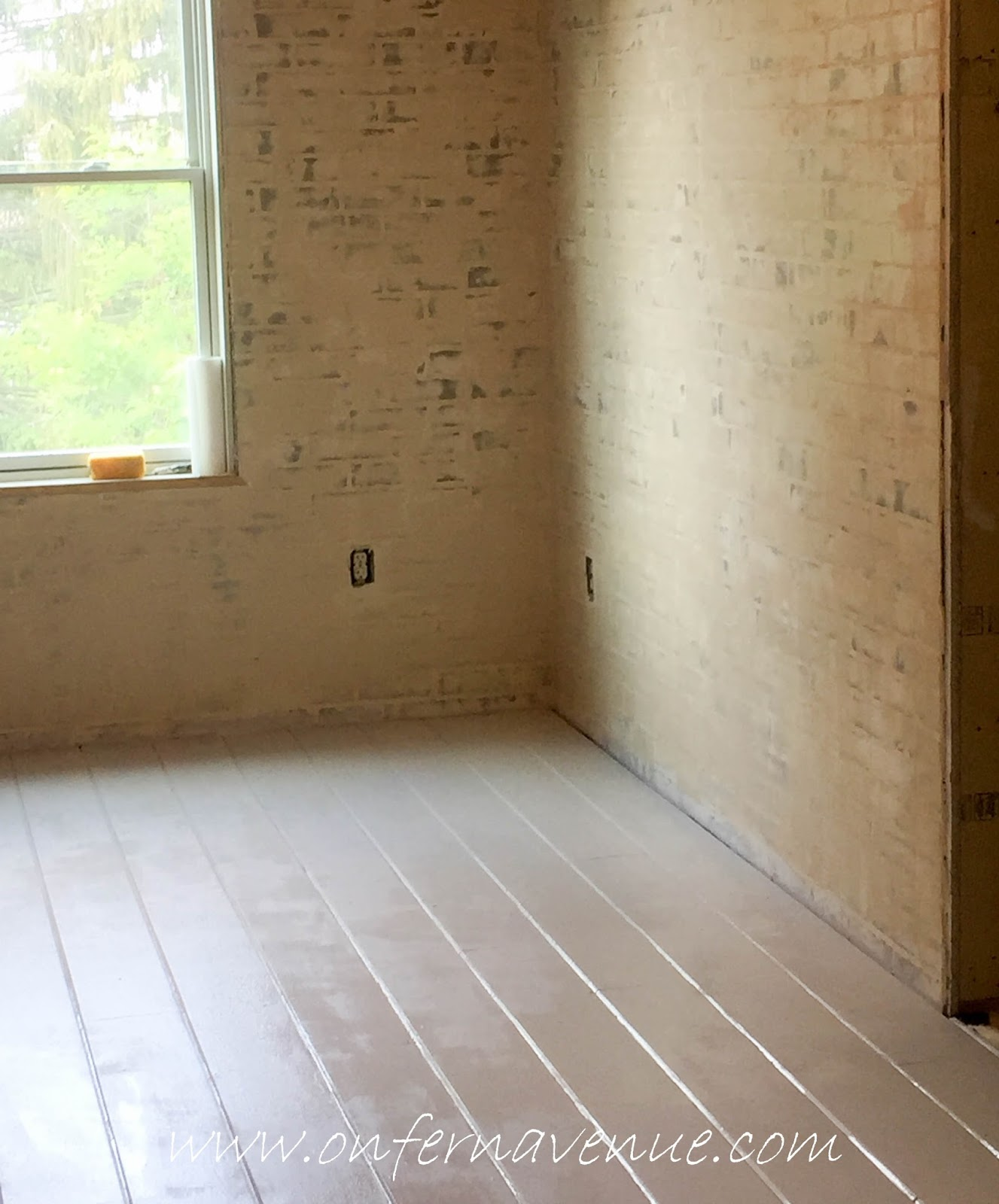 Shiplap Floors Painted With Benjamin Moore Winds Breath