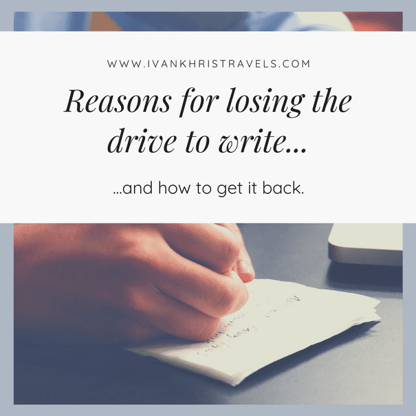 5 ways on how I regained my drive to write