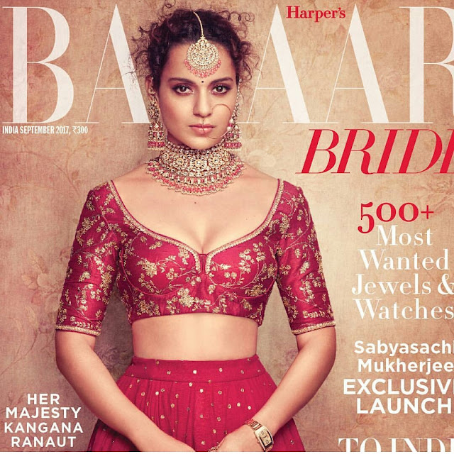 Kangana Ranaut On Bazaar Bride September 2017 Issue