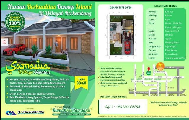 Harga Rumah Samawa Village Sepatan Tangerang