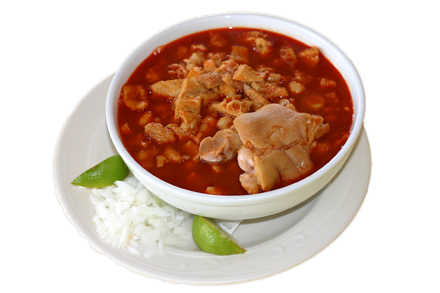 Red Chile Menudo with lime