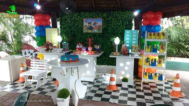 Decoração festa Patrulha Canina - Aniversário infantil