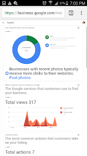 smart Google My Business insights of www.seosiri.com