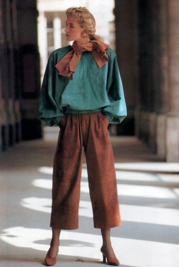 Yves Saint Laurent in Vogue US September 1989 (photography: Arthur Elgort) via www.fashionedbylove.co.uk