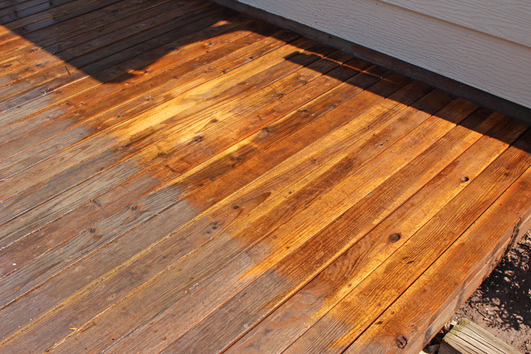 What a difference power washing can make on old wood!