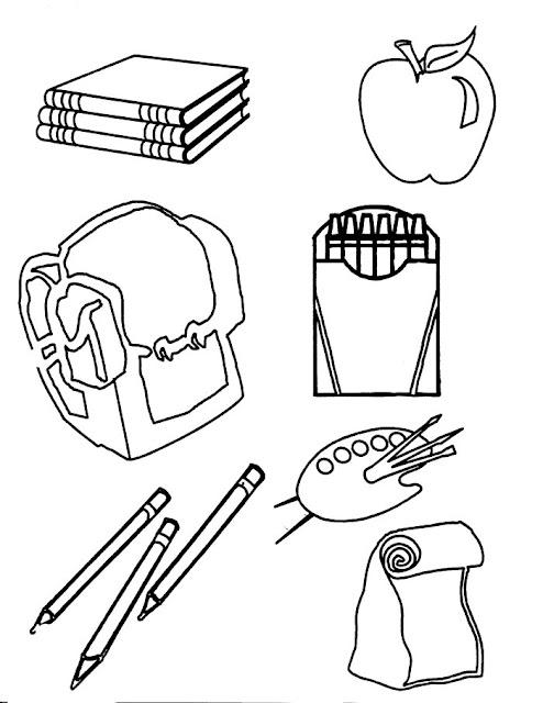 coloriage matériel scolaire