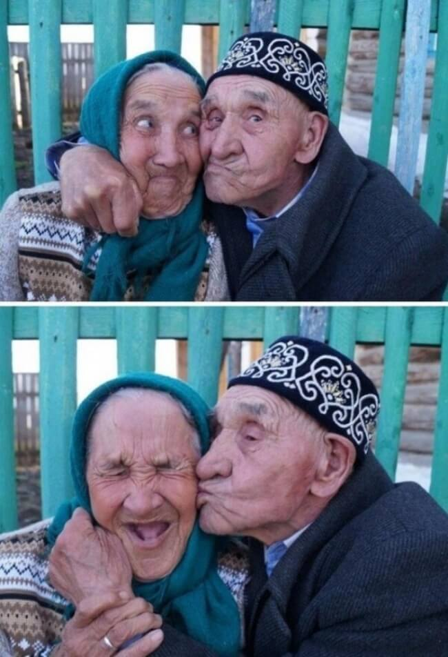 20 Exhilarating Images That Show Love Has No Age Limits - Make funny faces