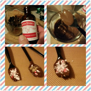 Chocolate peppermint spoon directions collage