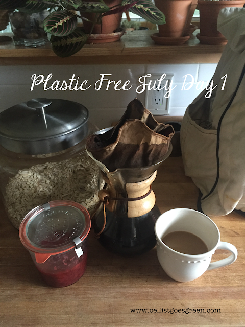 Plastic Free July Day 1 breakfast