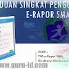 e rapor SMA Versi 2018 Kurikulum 2013 Dapodikmen ( Download Aplikasi & Panduan Pengerjaan)