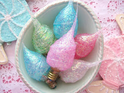 Candylights Tinsel Glitter Bulbs