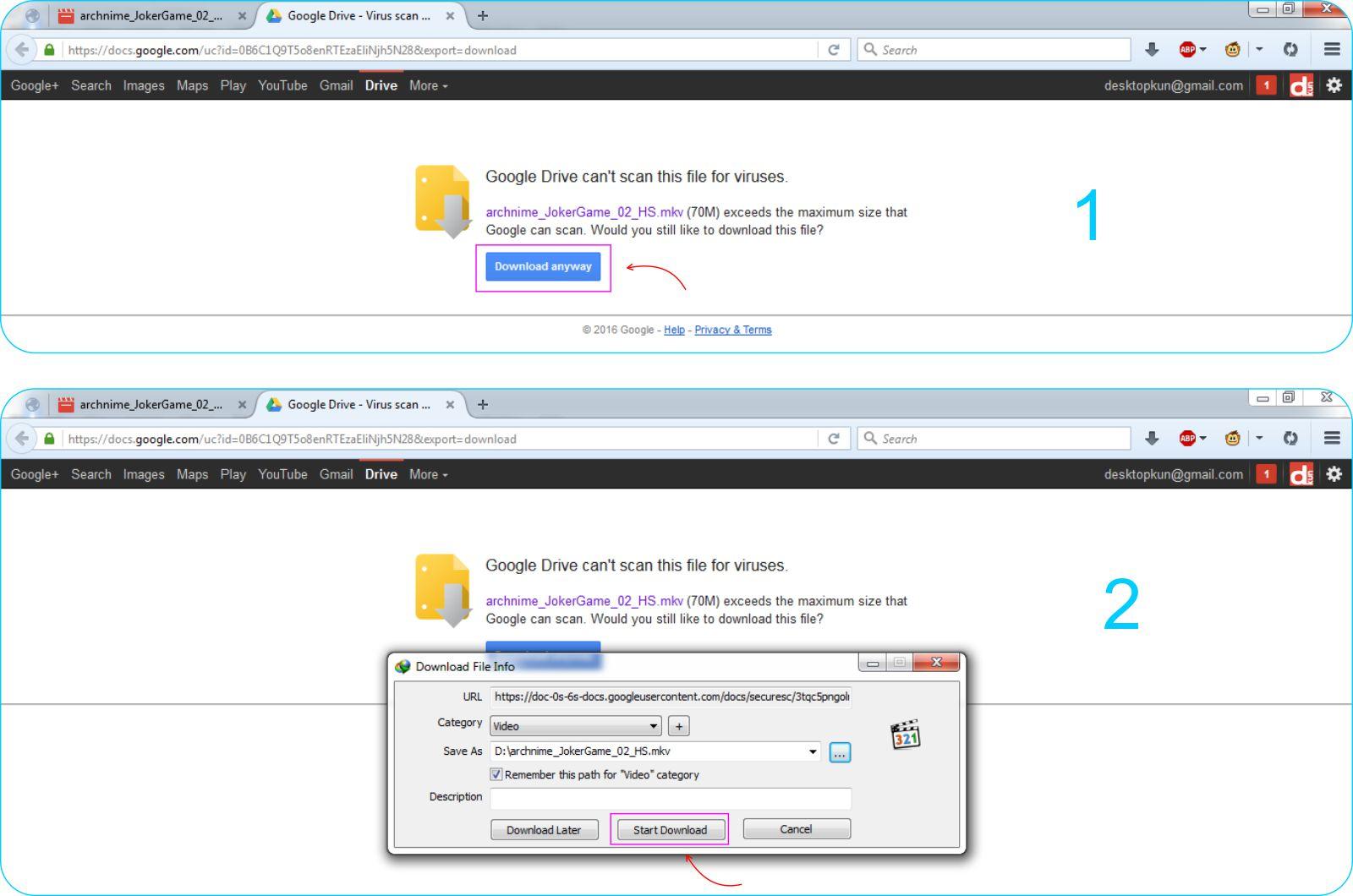 Cara Download File Dari Google Drive - Halaman Download File Pada Google Drive