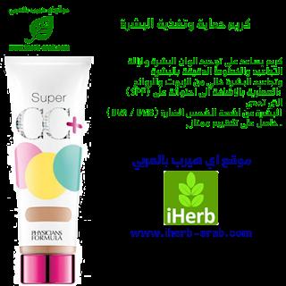 كريم العناية بالبشرة وتوحيد لونها ومضاد للشيخوخة من أي هيرب Physician's Formula, Inc., Super CC+, Color-Correction + Care, CC+ Cream, SPF 30, Light, 1.2 fl oz (35 ml)