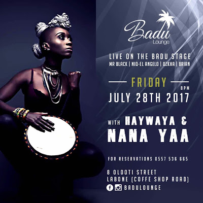 NanaYaa Live Performance At BADU Lounge On 28th July