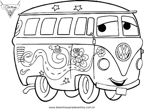 Desenhos Para Colorir : Carros Disney Para Colorir