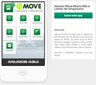 Tela 2 do Aplicativo Horários Morro Alto