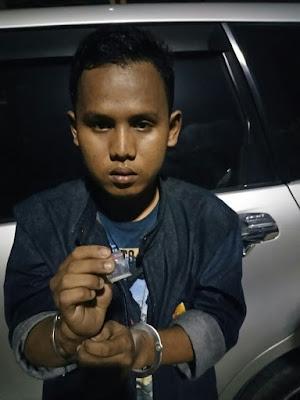 Bawa Sabu, Seorang Pemuda Diamankan di Merak Belantung