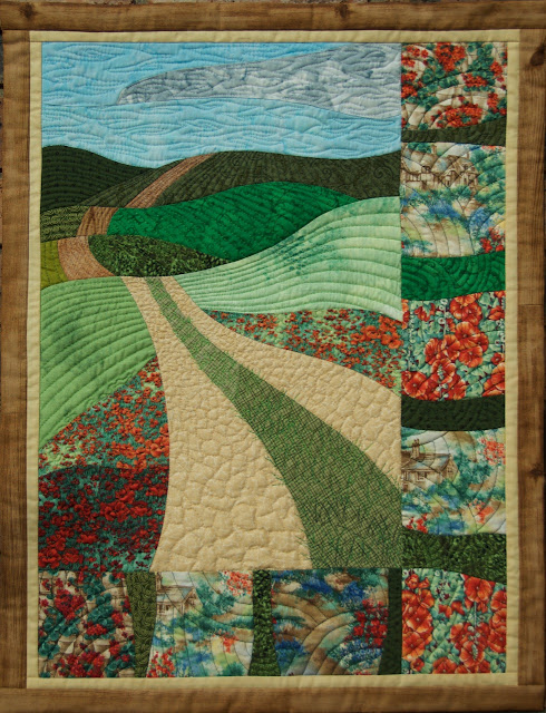 Road without End, curve pieced quilt