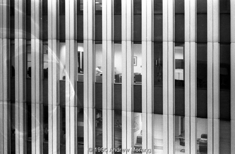 View of  the Twin Towers windows in NYC © 1995 Andrew Morang