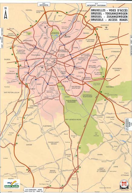 Bruxelles map