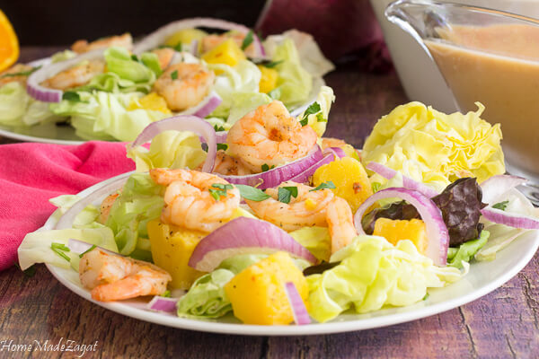 The perfect summer salad of spicy shrimp
