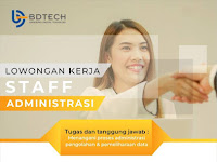 lowongan kerja administrasi BD Tech bandung