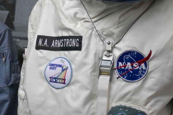 Neil Armstrong First Man Gemini spacesuit NASA insignia