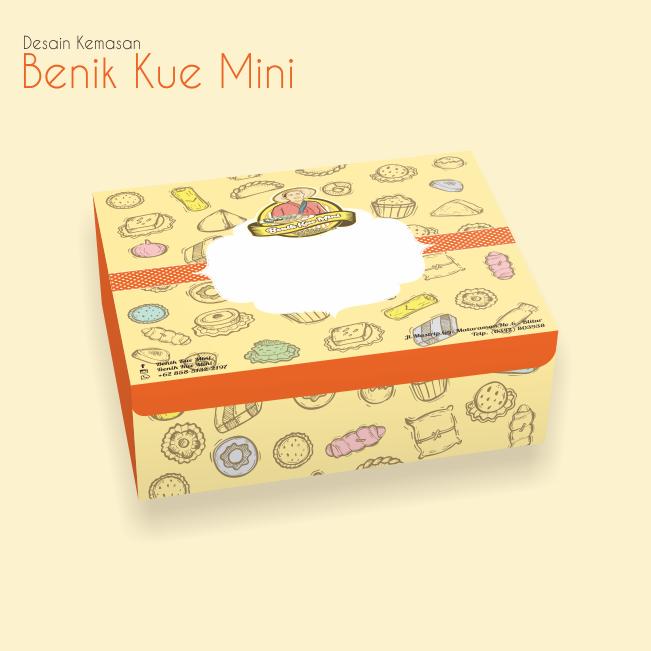 Desain Kemasan Benik Kue Mini