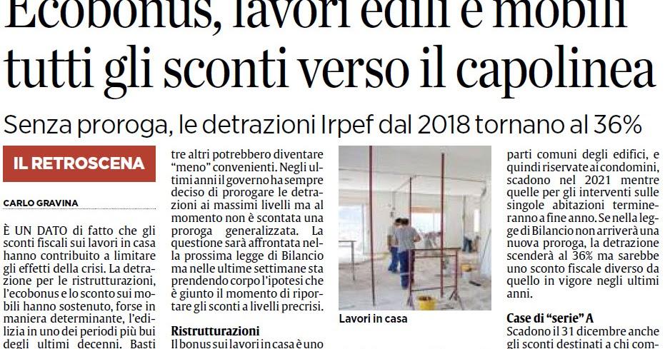Alassiofutura roma ecobonus lavori edili e mobili for Sconti mobili roma