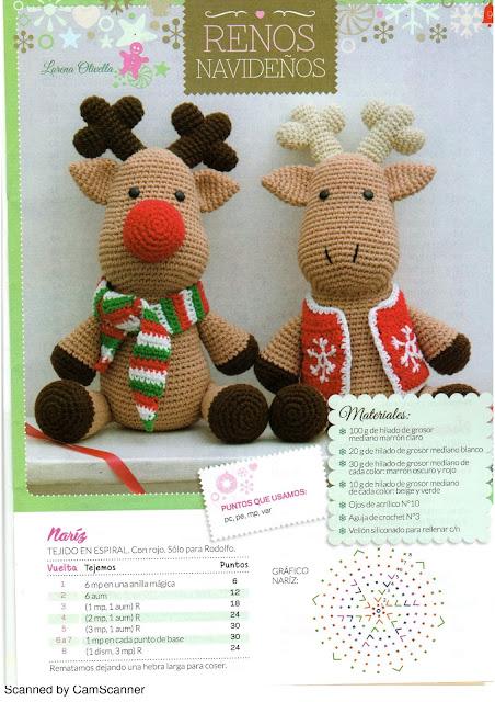 Crochet Moose Pattern PDF, Christmas Reindeer Elk Amigurumi ... | 640x452