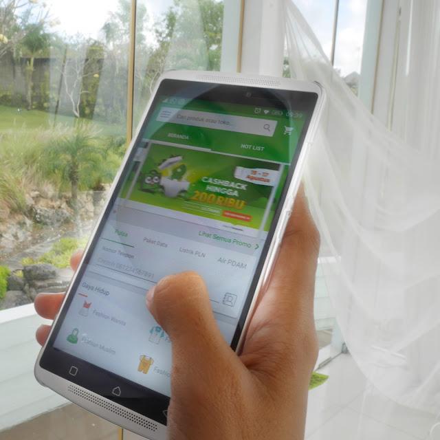 Aplikasi Tokopedia di Android