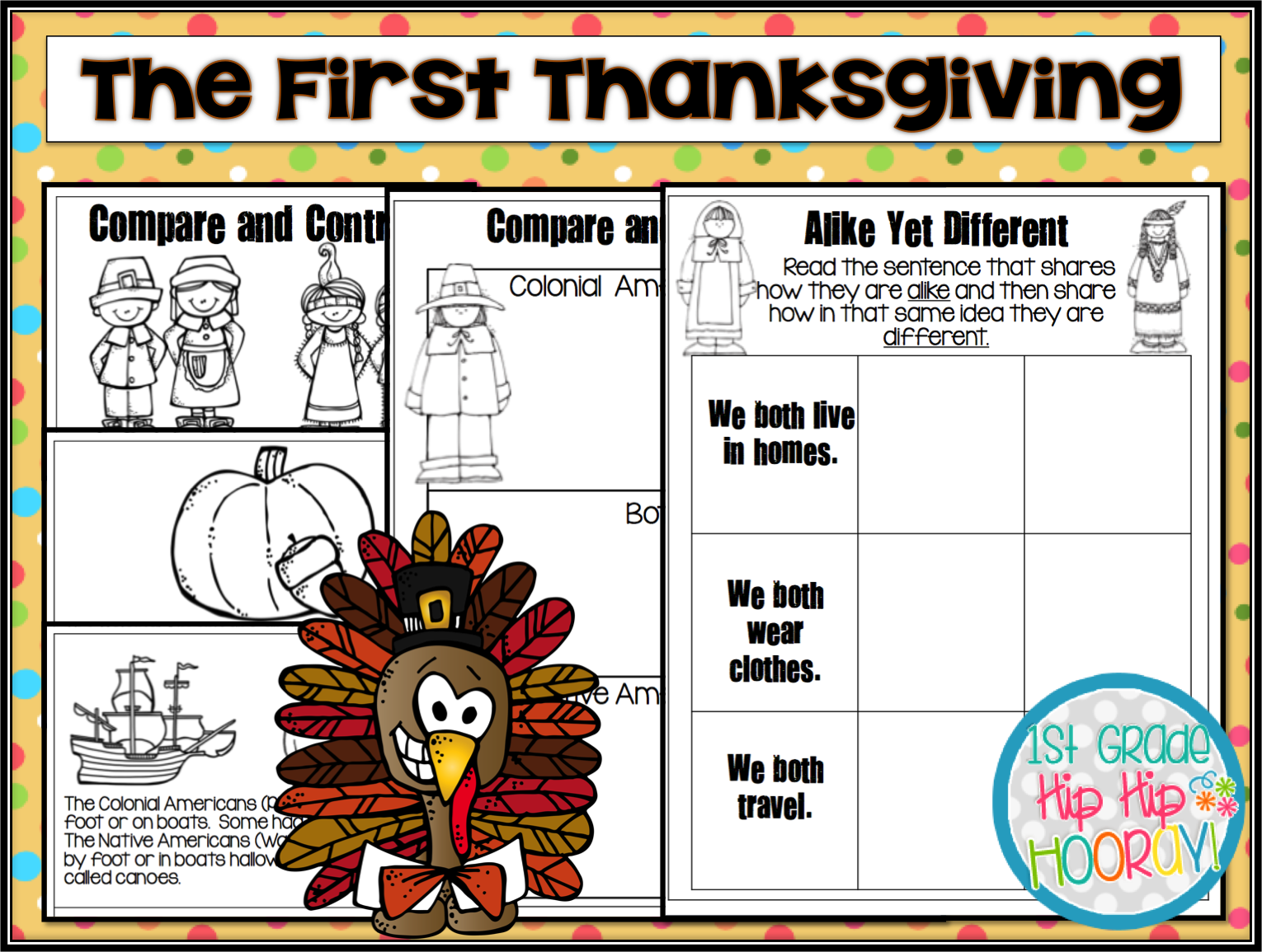 1st Grade Hip Hip Hooray The First Thanksgiving