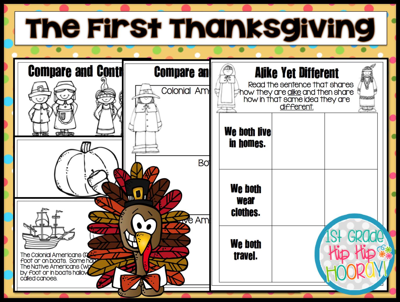 1st Grade Hip Hip Hooray The First Thanksgiving