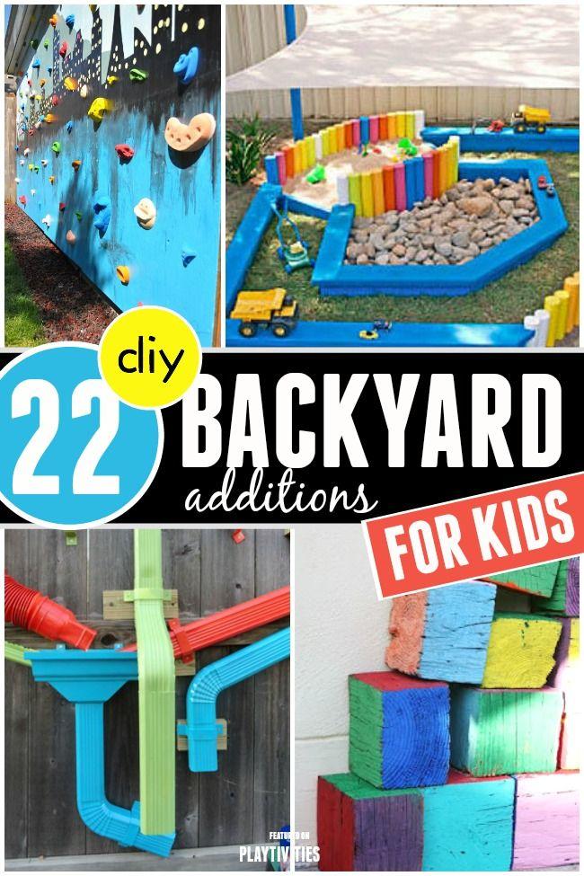 Helping Kids Grow Up: 22 Super Fun DIY Backyard Ideas For Kids