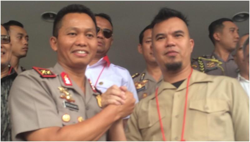 Ahmad Dhani dan Kapolda Metro Jaya Irjen Pol Moechgiyarto